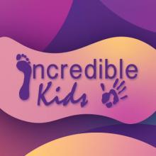 Incredible Kids Purple and Pink Logo