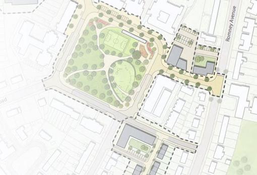 Architectural plan for residential development at former Blake Centre, Lockleaze, Bristol