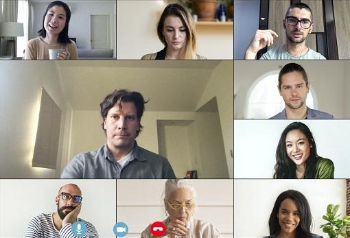 Online peer support network meeting using Zoom