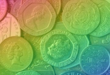 Rainbow filter on coins