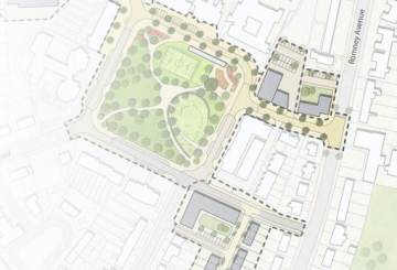 Architectural plan for residential development at former Blake Centre, Lockleaze, Bristol