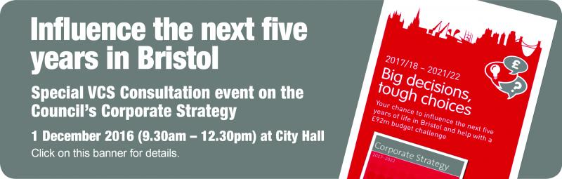 Corporate Strategy COnsultation Event for the VCS - Web Banner