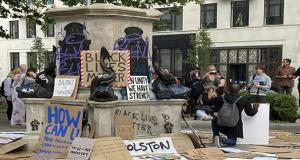 Edward Colston - empty pedestal