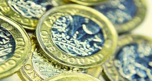 Finance pound coins