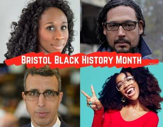 Bristol Black History Month speakers: Esi Edugyan, David Olusoga, Chiddera Eggerue and Kamal Ahmed.