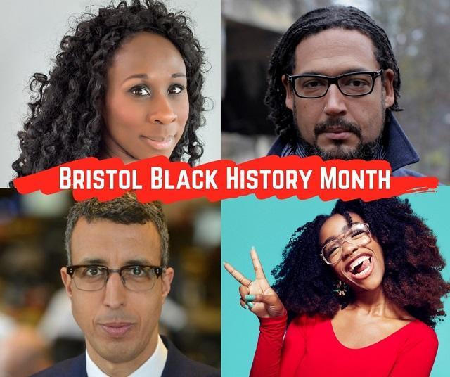Bristol Black History Month speakers: Esi Edugyan, David Olusoga, Chiddera Eggerue and Kamal Ahmed.