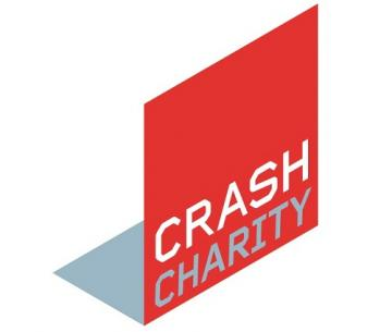 Crash Charity construction logo red square