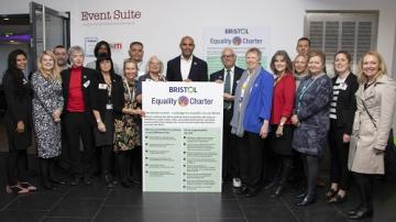 Equality Charter Representatives with Mayor Marvin Rees