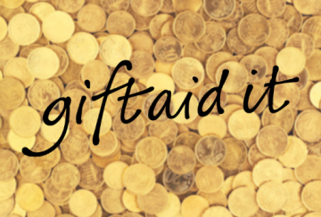 GiftAid logo and money